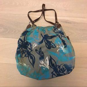 AE American Eagle Blue Floral Tote Bag Purse